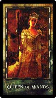 Queen of Wands Tarot Card - Archeon Tarot Deck
