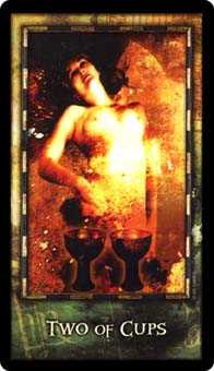 Two of Cups Tarot Card - Archeon Tarot Deck