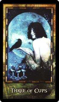 Three of Cups Tarot Card - Archeon Tarot Deck