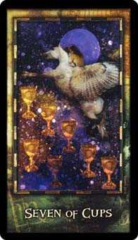 Seven of Cups Tarot Card - Archeon Tarot Deck