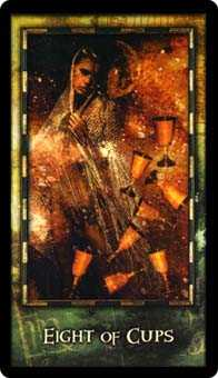 Eight of Cups Tarot Card - Archeon Tarot Deck