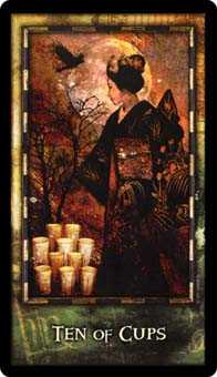 Ten of Ghosts Tarot Card - Archeon Tarot Deck