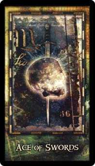 Ace of Swords Tarot Card - Archeon Tarot Deck