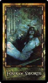 Four of Swords Tarot Card - Archeon Tarot Deck