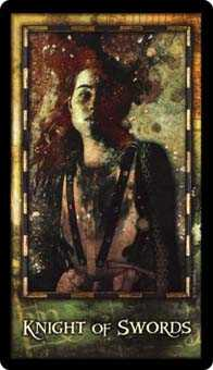 Cavalier of Swords Tarot Card - Archeon Tarot Deck