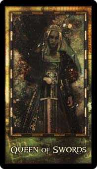 Queen of Swords Tarot Card - Archeon Tarot Deck