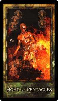Eight of Earth Tarot Card - Archeon Tarot Deck