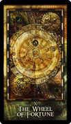 Wheel of Fortune Tarot card in Archeon Tarot deck