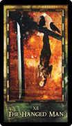 The Hanged Man Tarot card in Archeon deck