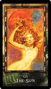The Sun Tarot card in Archeon Tarot deck