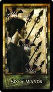 Six of Wands Tarot card in Archeon deck