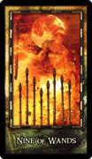 Nine of Wands Tarot card in Archeon Tarot deck