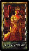 Queen of Wands Tarot card in Archeon deck