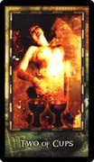Two of Cups Tarot card in Archeon Tarot deck