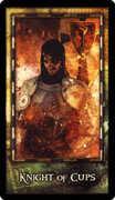 Knight of Cups Tarot card in Archeon Tarot deck
