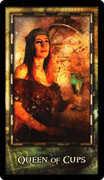 Queen of Cups Tarot card in Archeon deck