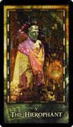 The Hierophant Tarot card in Archeon deck