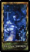 Eight of Swords Tarot card in Archeon Tarot deck