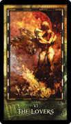 The Lovers Tarot card in Archeon Tarot deck