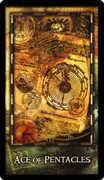 Ace of Coins Tarot card in Archeon Tarot deck