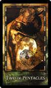 Two of Coins Tarot card in Archeon Tarot deck