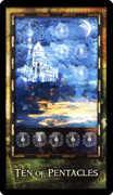 Ten of Coins Tarot card in Archeon Tarot deck