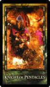 Knight of Coins Tarot card in Archeon Tarot deck