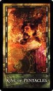 King of Coins Tarot card in Archeon Tarot deck