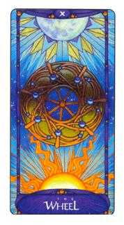 The Wheel of Fortune Tarot Card - Art Nouveau Tarot Deck