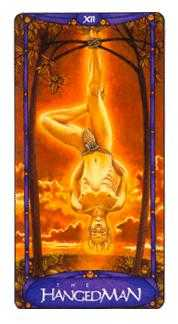 The Hanged Man Tarot Card - Art Nouveau Tarot Deck