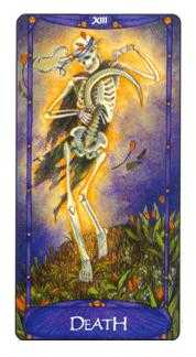 Death Tarot Card - Art Nouveau Tarot Deck
