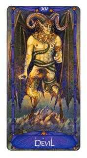 The Devil Tarot Card - Art Nouveau Tarot Deck