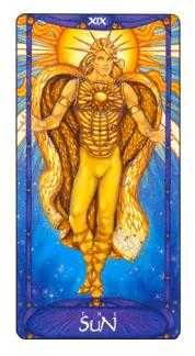 The Sun Tarot Card - Art Nouveau Tarot Deck
