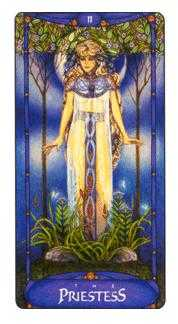 The High Priestess Tarot Card - Art Nouveau Tarot Deck