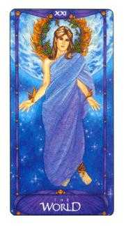 The World Tarot Card - Art Nouveau Tarot Deck