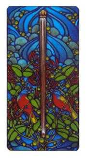 Ace of Staves Tarot Card - Art Nouveau Tarot Deck