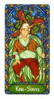 King of Batons Tarot Card - Art Nouveau Tarot Deck