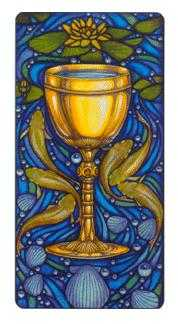 Ace of Bowls Tarot Card - Art Nouveau Tarot Deck