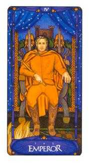 The Emperor Tarot Card - Art Nouveau Tarot Deck