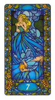 Seven of Hearts Tarot Card - Art Nouveau Tarot Deck