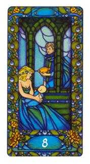 Eight of Bowls Tarot Card - Art Nouveau Tarot Deck