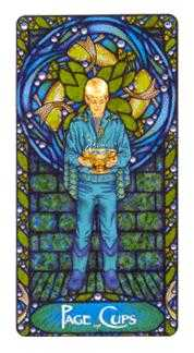 Apprentice of Bowls Tarot Card - Art Nouveau Tarot Deck