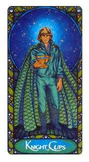 Cavalier of Cups Tarot Card - Art Nouveau Tarot Deck