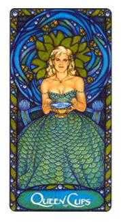 Queen of Bowls Tarot Card - Art Nouveau Tarot Deck
