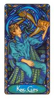 Shaman of Cups Tarot Card - Art Nouveau Tarot Deck