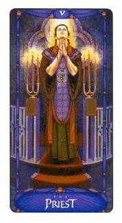 The Hierophant Tarot Card - Art Nouveau Tarot Deck
