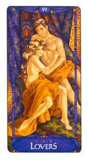 The Lovers Tarot Card - Art Nouveau Tarot Deck