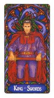 Father of Swords Tarot Card - Art Nouveau Tarot Deck