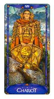 The Chariot Tarot Card - Art Nouveau Tarot Deck