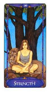 Strength Tarot Card - Art Nouveau Tarot Deck